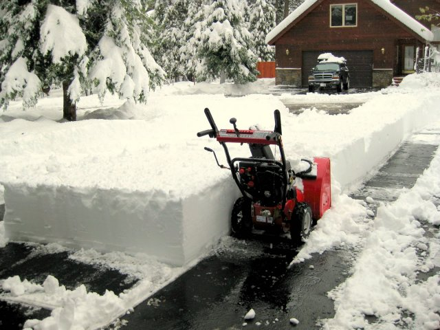 One of the worst snow removal jobs ever!